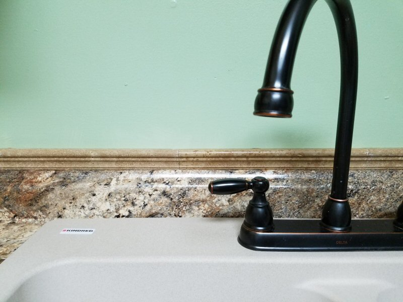 New countertop and sink